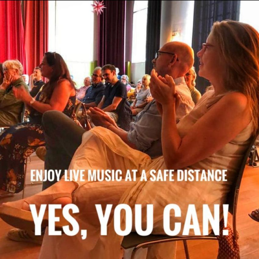 enjoy Live music at a adistance